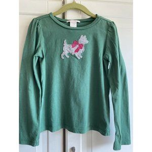 Winter Bright Janie and Jack Sz 5 Green Puppy Top